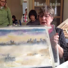 Akvarellikurssi 1 & 2kuvissa