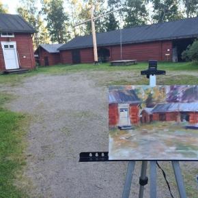 Plein Air tapahtuma Hietalahden puistossa23.8.2016