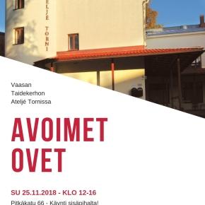 Avoimet Ovet – Öppna Dörrars Dag 25.11 Klo12-16